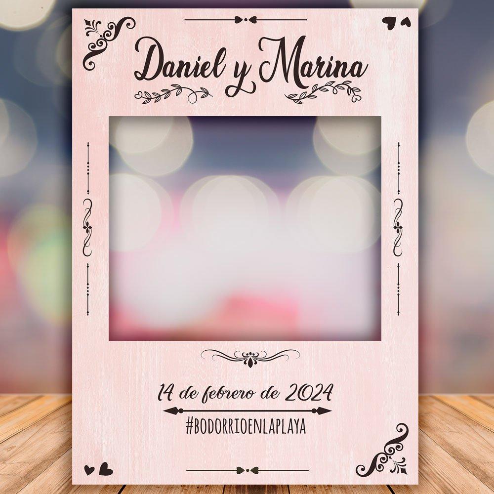 como hacer un photocall para bodas de oro