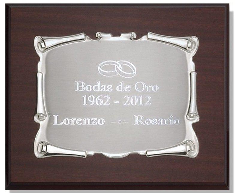 placas conmemorativas de bodas de oro