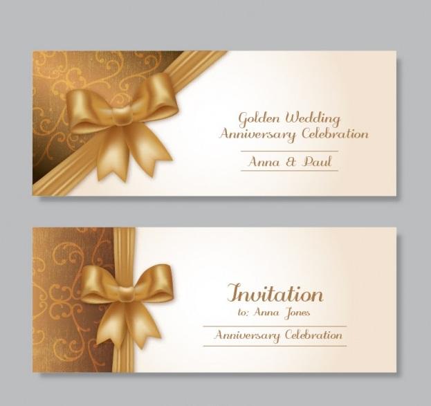 como hacer tarjetas para bodas de oro