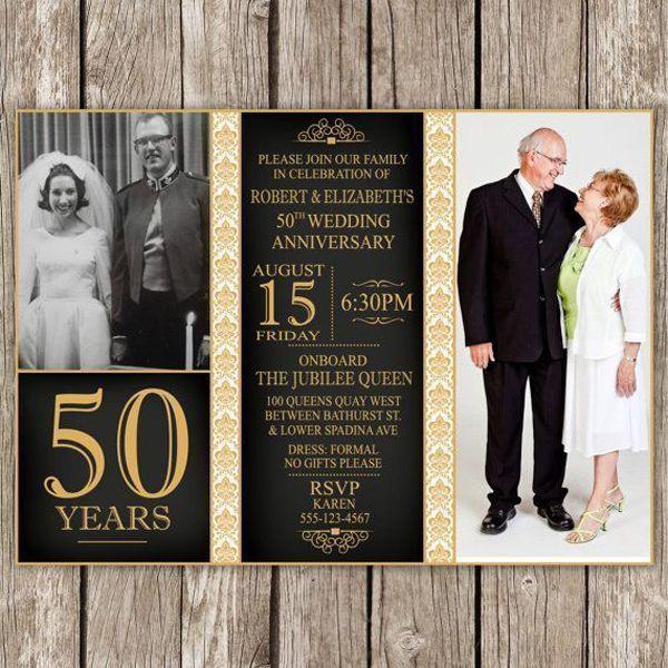 invitaciones a bodas de oro